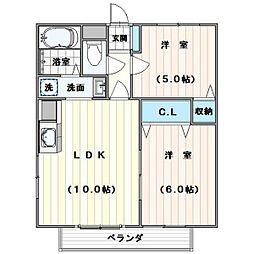 パークタウンA棟[1階]の間取り