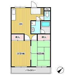 キャッスルヨシカワA[3階]の間取り