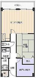 パレフルール[2階]の間取り