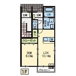 ドリームハウスK[A101号室]の間取り