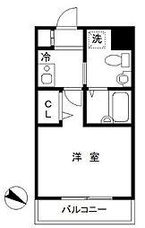 神奈川県横浜市中区海岸通4丁目の賃貸マンションの間取り
