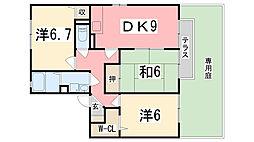 リバーイーストK[A101号室]の間取り