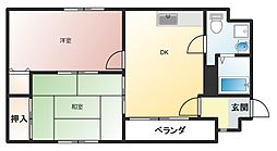 ハイツトリヤマ[2階]の間取り