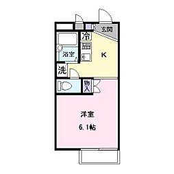 レオパレストミタ2[2階]の間取り