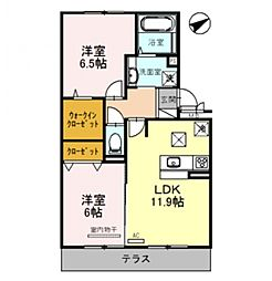 Casa raffine 瀬田A[103号室号室]の間取り