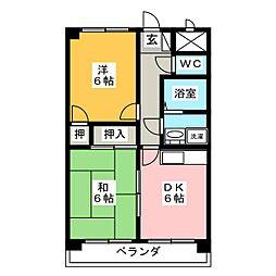 ロワII森田町[1階]の間取り