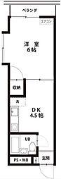 蓮沼HTハイツ 201号室[2階]の間取り