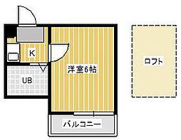 ジュネパレス松戸第32[2階]の間取り