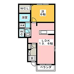 フィオーレ・T[1階]の間取り
