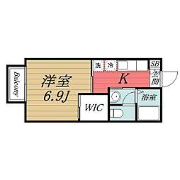 千葉県千葉市中央区登戸5丁目の賃貸アパートの間取り