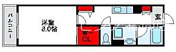 JR鹿児島本線 福間駅 徒歩16分の賃貸アパート 2階1Kの間取り