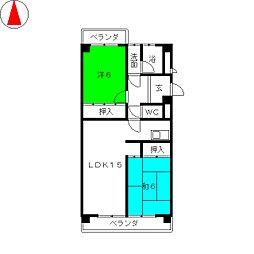 トーク21[4階]の間取り