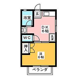 ハイムM&N[1階]の間取り