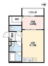 河内永和駅徒歩5分 リュクシティー・永和[201号室]の間取り