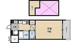 エステムコート大阪・中之島南[7階]の間取り