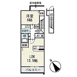 プロムナード 2階[203号室]の間取り