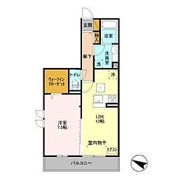 (仮)D-room飯山満町 A[105号室]の間取り