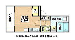 福岡県北九州市小倉北区昭和町の賃貸アパートの間取り