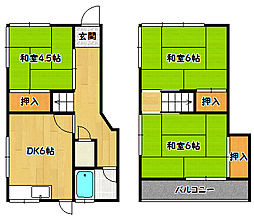 兵庫県神戸市北区鈴蘭台北町3丁目の賃貸アパートの間取り