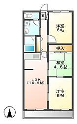 ファミール(小伊木町)[3階]の間取り