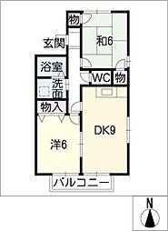 ジュネスナシノキB棟[1階]の間取り
