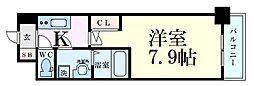 Osaka Metro堺筋線 北浜駅 徒歩7分の賃貸マンション 2階1Kの間取り