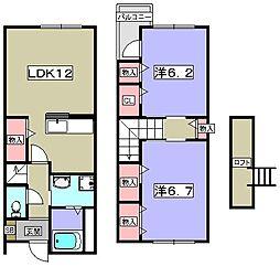 シャンドフルール雅[1階]の間取り