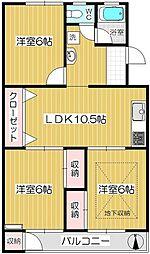 戸田南町住宅[106号室]の間取り