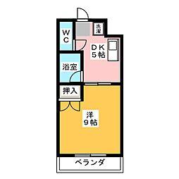 エグゼ3[3階]の間取り