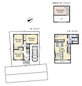 建物プラン例(B区画)3LDK、土地価格5980万円、土地面積80.05m2、建物価格1700万円、建物面積78.66m2
