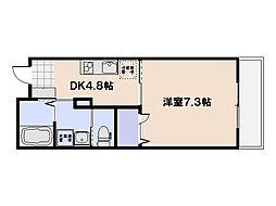 PLEIN SOLEIL桜尾 3階1DKの間取り
