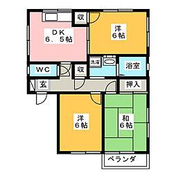 ツーハイツ[2階]の間取り