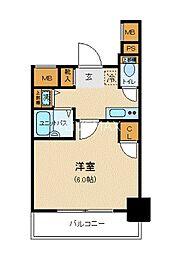 東京メトロ銀座線 三越前駅 徒歩7分の賃貸マンション 5階1Kの間取り