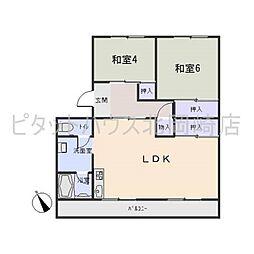 コーポ武田[1階]の間取り