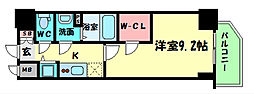 プレサンス江戸堀 11階1DKの間取り