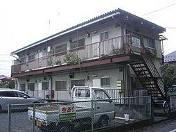 東京都福生市北田園2丁目の賃貸アパートの外観