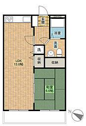 サン・アップマンション[4階]の間取り
