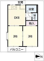 ゆうハウス[2階]の間取り