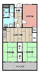 皇后崎スカイマンション 403号[403号室]の間取り