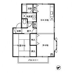 エスポワールA[2階]の間取り