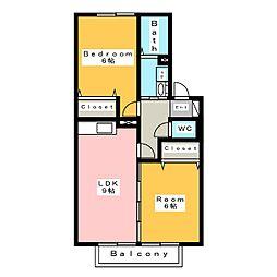 ビオテルム[2階]の間取り