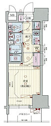 Osaka Metro千日前線 阿波座駅 徒歩1分の賃貸マンション 4階1Kの間取り