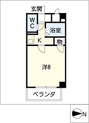 ジュネス東桜[2階]の間取り