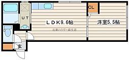ウィングキャッスル 1階1LDKの間取り