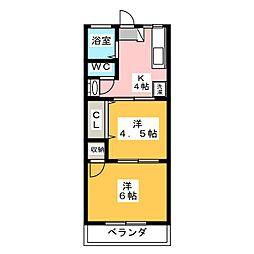 ヤマキ[2階]の間取り