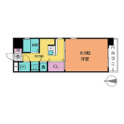 HARADA栄南ビル[8階]の間取り