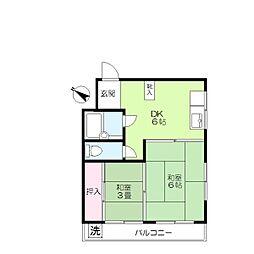 山本ビル[5階]の間取り