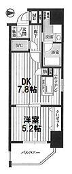 クリスタルグランツ新大阪[302号室]の間取り