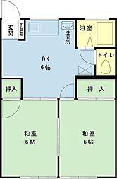 千葉県浦安市富士見2の賃貸アパートの間取り