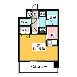 エンクレストNEO博多駅南[4階]の間取り